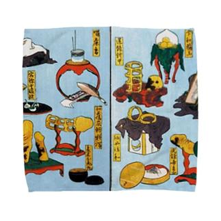 葛飾北斎 大人のおもちゃ Towel handkerchiefs