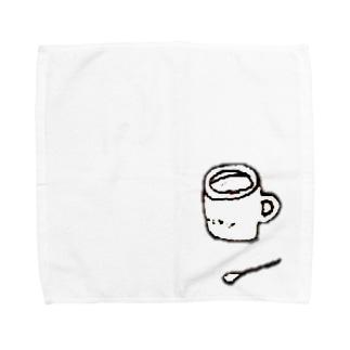 Cheese Pupu + yuuhiのマグカップとスプーン Towel handkerchiefs