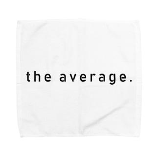 かくかくロゴ(黒) Towel handkerchiefs