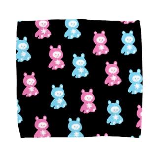 ほねくま Towel handkerchiefs