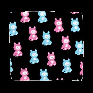 イソ(ベ)マスヲのほねくま Towel handkerchiefs