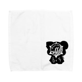 Makari M&PVのオリキャラシルエットロゴ Towel handkerchiefs