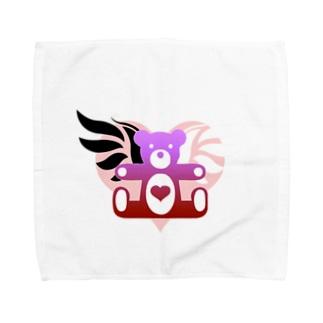 Angel heart bear Towel handkerchiefs