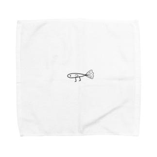 足のはえたグッピー Towel handkerchiefs
