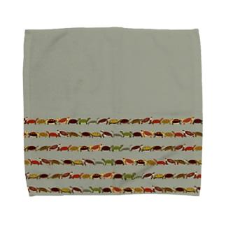 日本の亀ボーダー Towel handkerchiefs