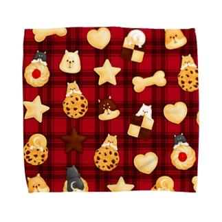 柴犬クッキー Towel handkerchiefs
