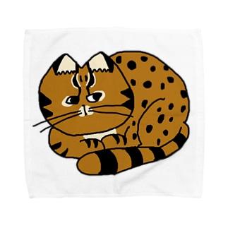 ツシマヤマネコくん Towel handkerchiefs