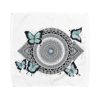 オオルリアゲハ Towel handkerchiefs