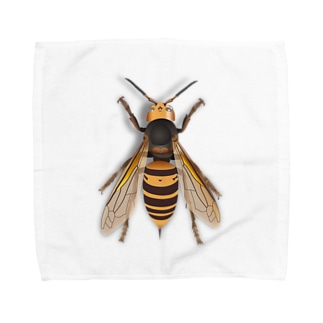 いたずらデザイン(ちょっとスズメバチついてますよ) Towel handkerchiefs