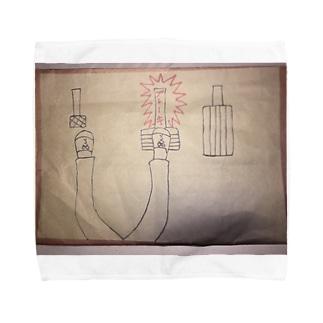 真ん中がブレーキ‼︎ Towel handkerchiefs