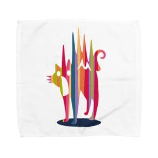 びっくり猫 Towel handkerchiefs