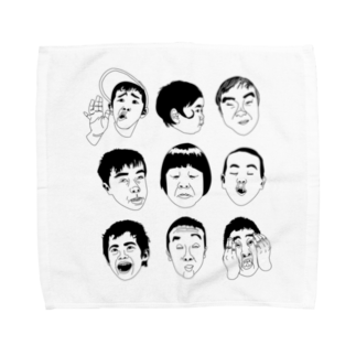 Drecome_DesignのFunny Face Towel handkerchiefs