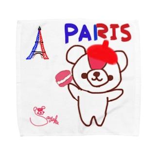 パリとおせんちゃん Towel handkerchiefs