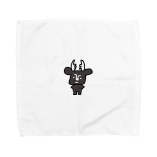 黒BUSHIKA Towel handkerchiefs