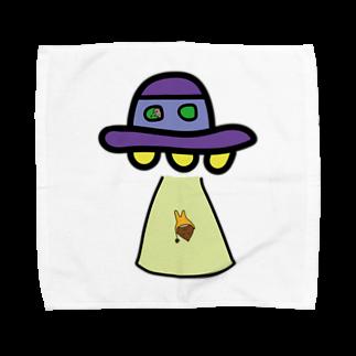 BASE PINE BOYのUFOとくりぼーい Towel handkerchiefs