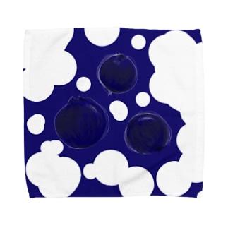 ブルーベリー Towel handkerchiefs