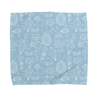 ジュエリー ブルー Towel handkerchiefs