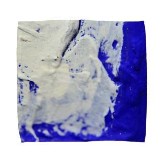額縁について ウルトラマリンブルー Towel handkerchiefs