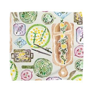春のごちそう(ごちそう)  Towel handkerchiefs