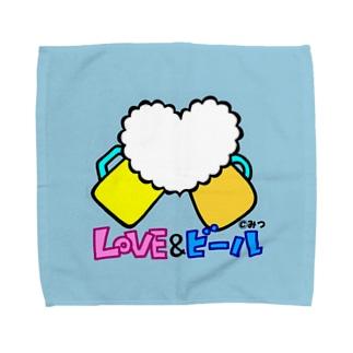 【LOVE&ビール】 Towel handkerchiefs