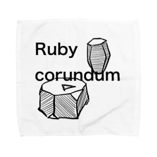 コランダムの結晶原石の晶癖 Towel handkerchiefs
