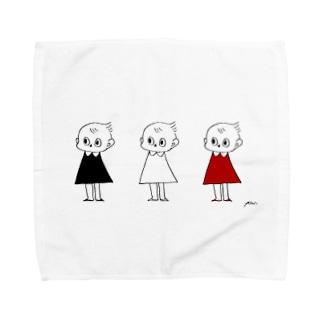 3人のピッちゃん Towel handkerchiefs