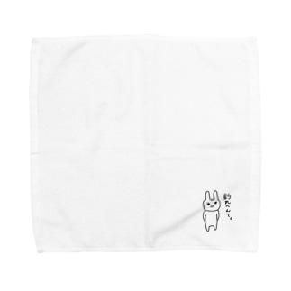 釣れへんほげうさぎ Towel handkerchiefs