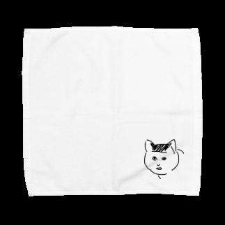 ふじのん屋のブサ猫のり夫 Towel handkerchiefs