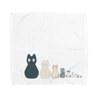 ネコリョシカ Towel handkerchiefs