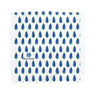 simple blue Towel handkerchiefs