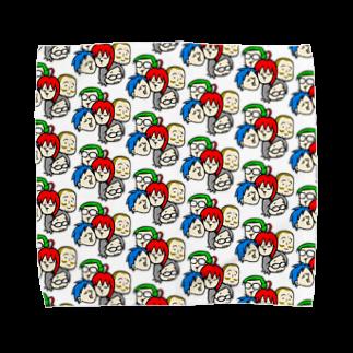 駄菓子菓子の駄オル【みっちり数珠繋ぎ】 Towel handkerchiefs