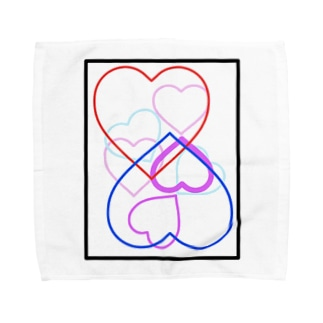 恋人をイメージしたデザイン Towel handkerchiefs