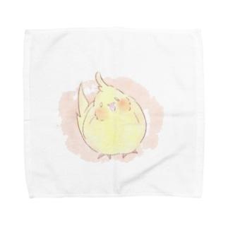 ほのぼのオカメ Towel handkerchiefs