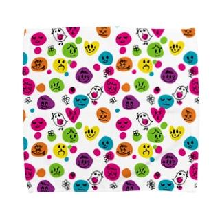 フェイス柄タオルハンカチ Towel handkerchiefs