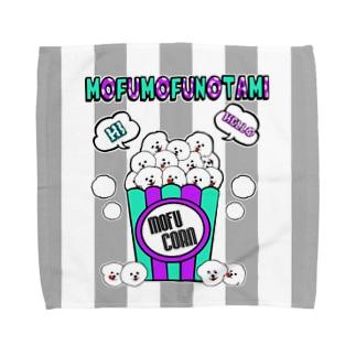 モフモフの民 ポップコーン Towel handkerchiefs