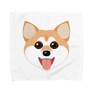 かわいい柴犬 Towel handkerchiefs