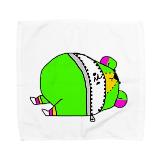 (・Σ・)の着ぐるみクマ Towel handkerchiefs