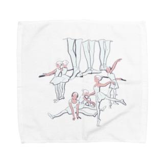 ballet school(おおきなお) Towel handkerchiefs
