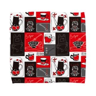 TEA TIME柄タオルハンカチ Towel handkerchiefs