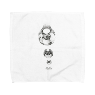 烏丸斗樹の点々で水滴。 Towel handkerchiefs