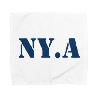 エヌワイドットエー(通称「ニャ」) ・ネイビー Towel handkerchiefs