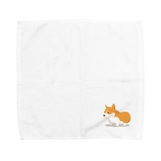 ずんぐりコーギー Towel handkerchiefs