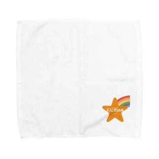 にじのははロゴ2 Towel handkerchiefs