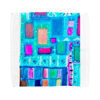 ターコイズスクエア Towel handkerchiefs