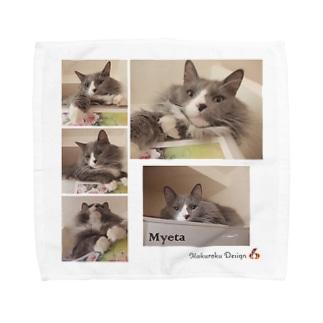 ミーさん。 Towel handkerchiefs