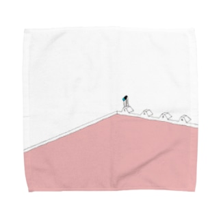 夏のピンクプール Towel handkerchiefs