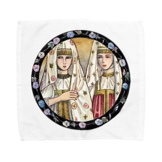 上/うえのトヴェリの女たち Towel handkerchiefs