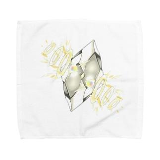 フェイクディガー「光の白い宝石」 Towel handkerchiefs