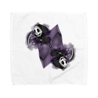 フェイクディガー「闇の黒い宝石」 Towel handkerchiefs