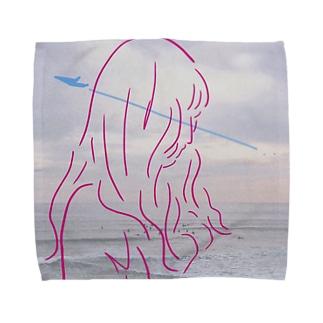 風がなびく触れる  Towel handkerchiefs